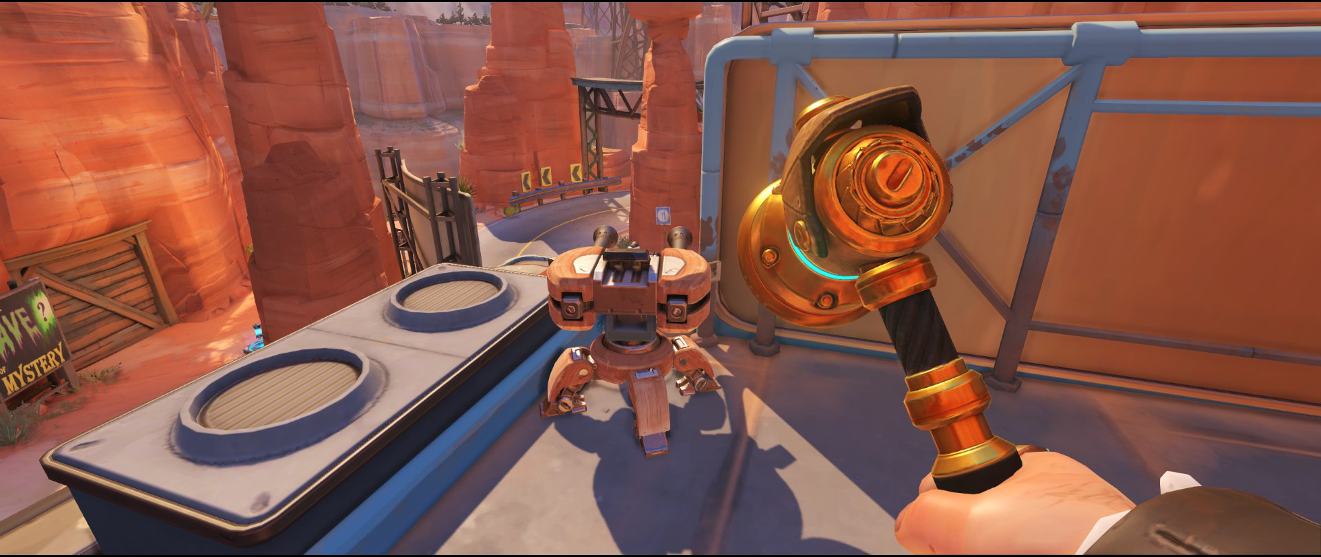Gas standard high ground turret placement Torbjorn Route 66 Overwatch