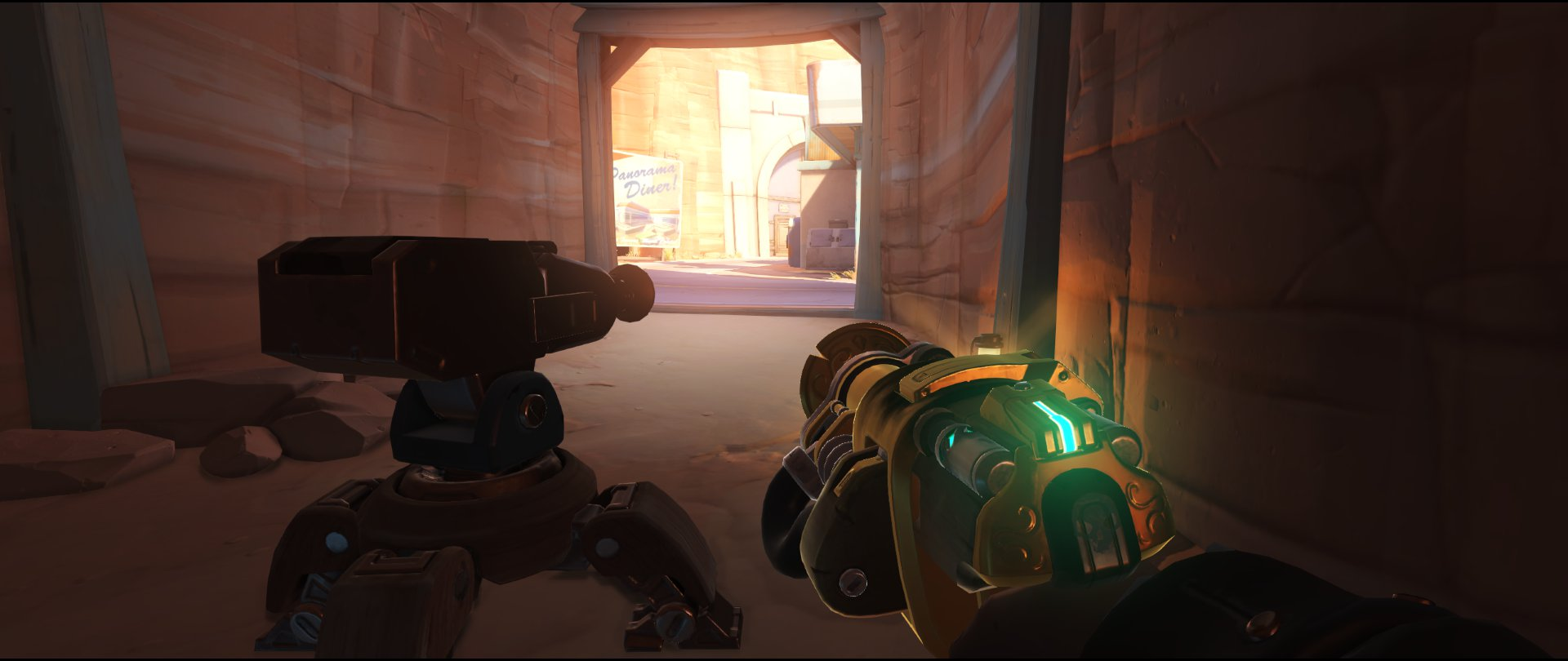 Cave flank turret placement Torbjorn Route 66 Overwatch