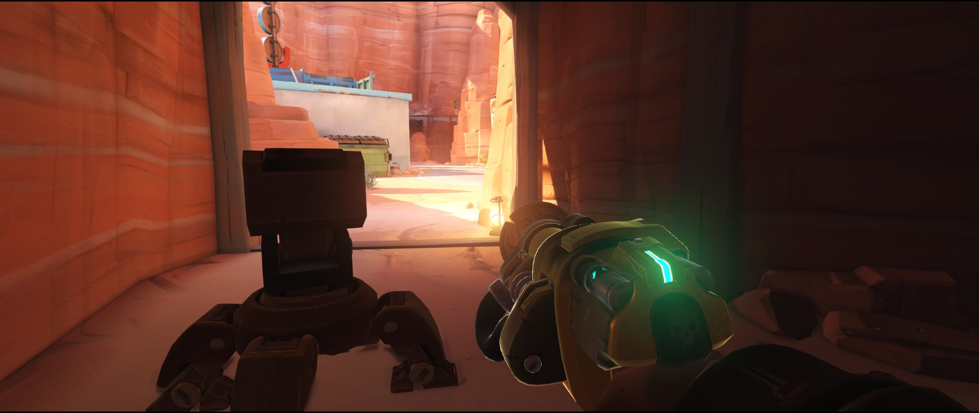 Door very end first point turret placement Torbjorn Route 66 Overwatch
