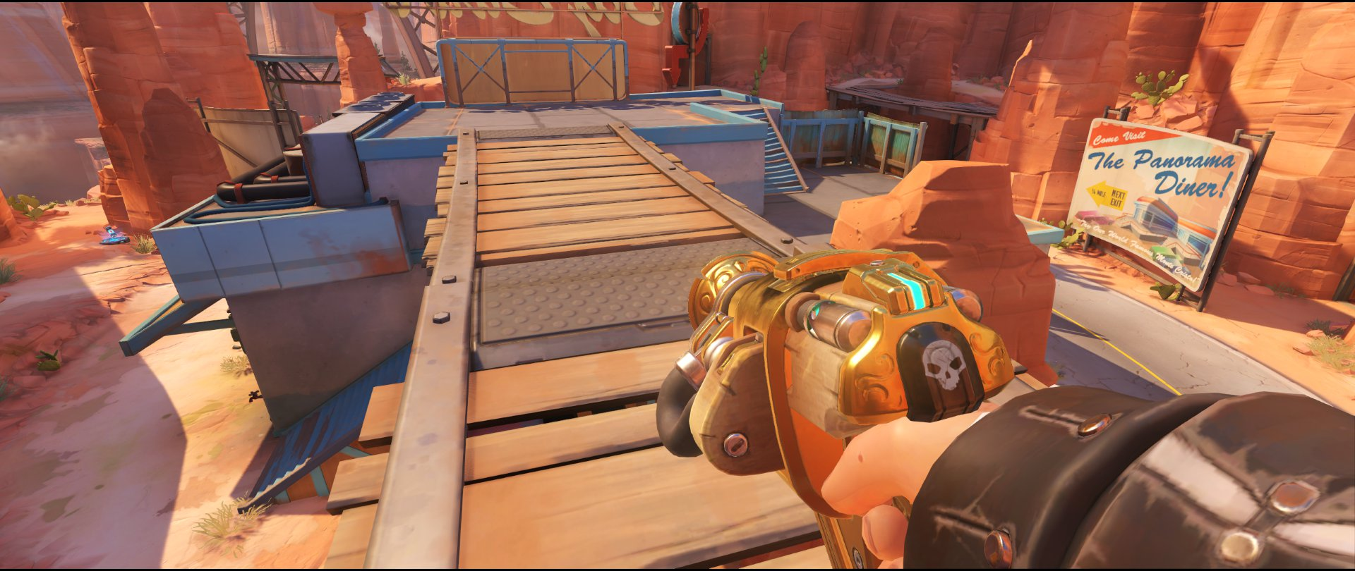 Gas station high ground turret placement Torbjorn Route 66 Overwatch