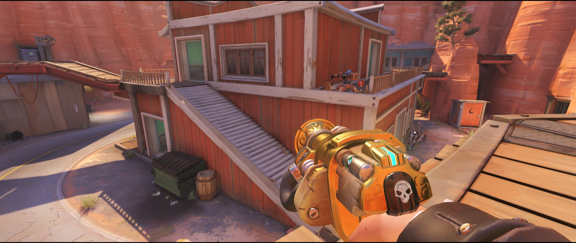 Pub high ground turret placement Torbjorn Route 66 Overwatch