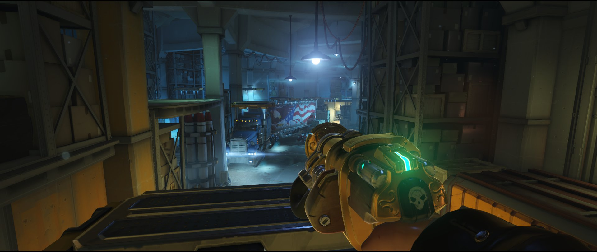 Moving platforms third point turret placement Torbjorn Route 66 Overwatch