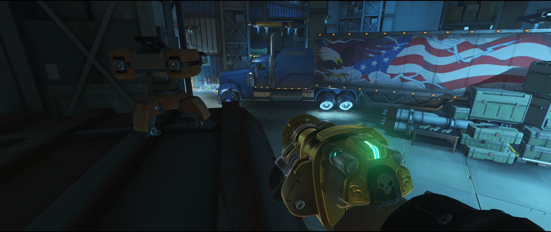 Side third point turret placement Torbjorn Route 66 Overwatch