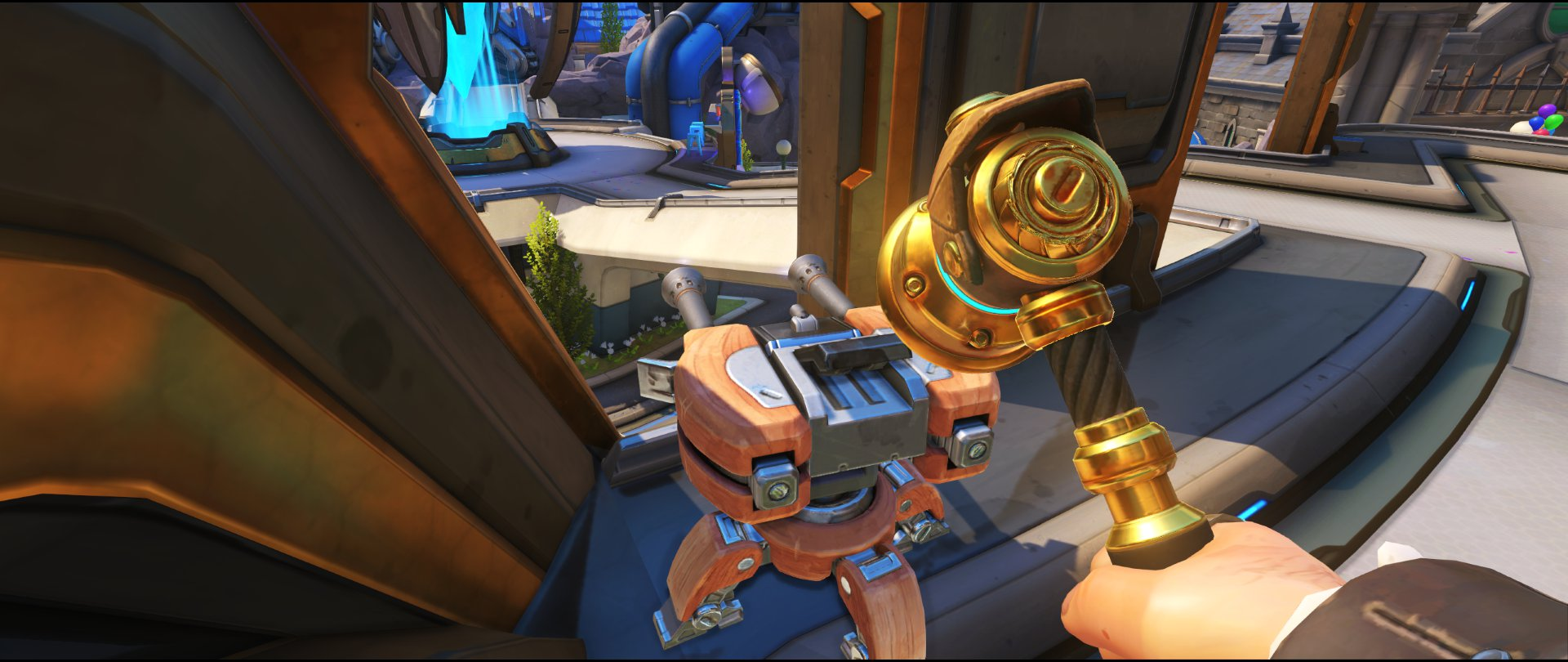 All+left+yellow+panels+turret+placement+spot+Torbjorn+Blizzard+World+Overwatch