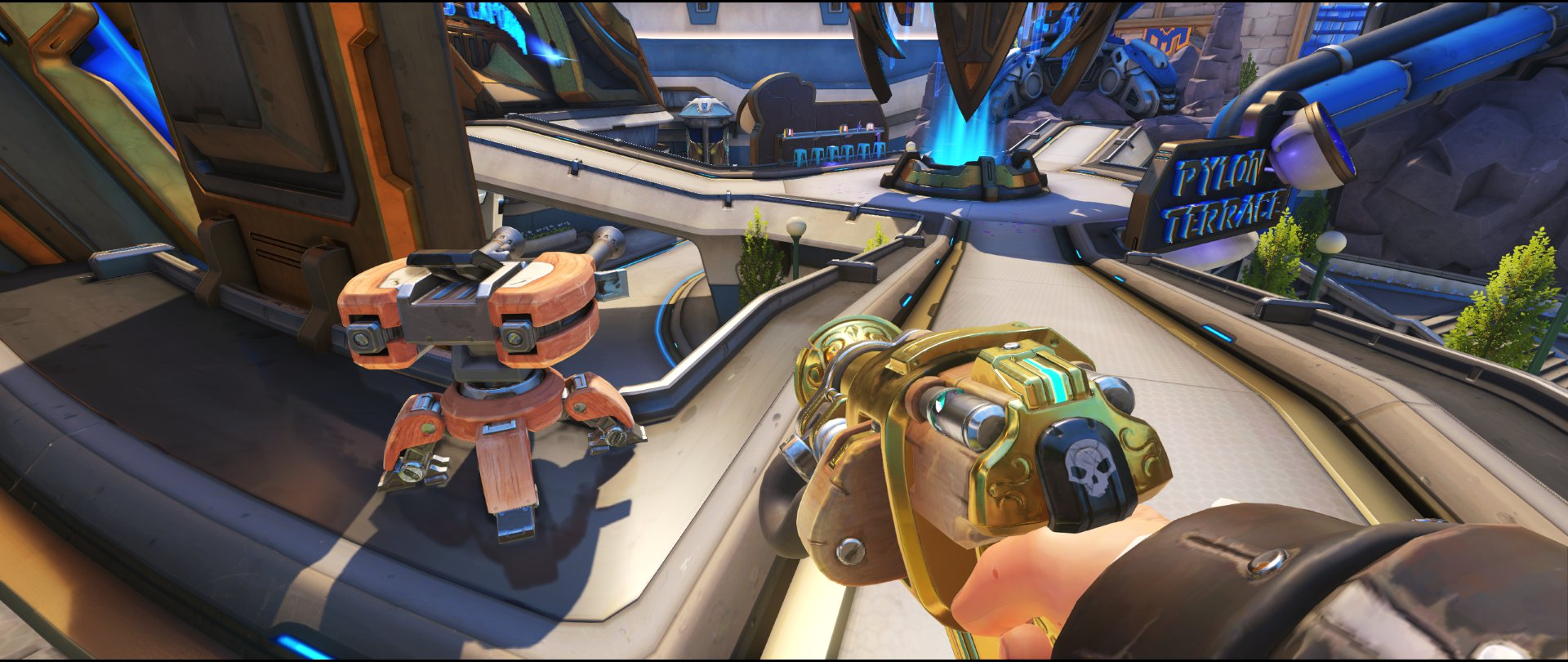 Center+and+main+yellow+panels+turret+placement+spot+Torbjorn+Blizzard+World+Overwatch