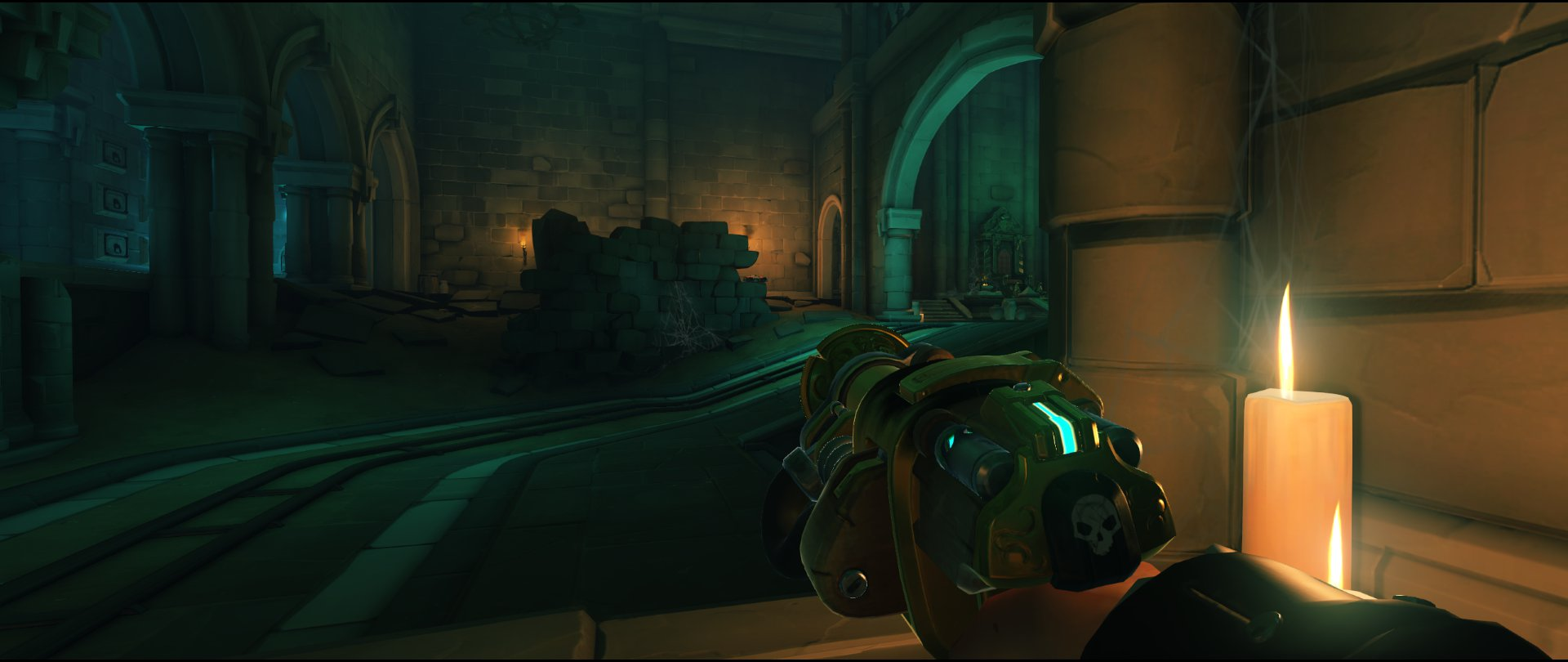 Left+side+wall+back+view+turret+placement+spot+Torbjorn+Blizzard+World+Overwatch