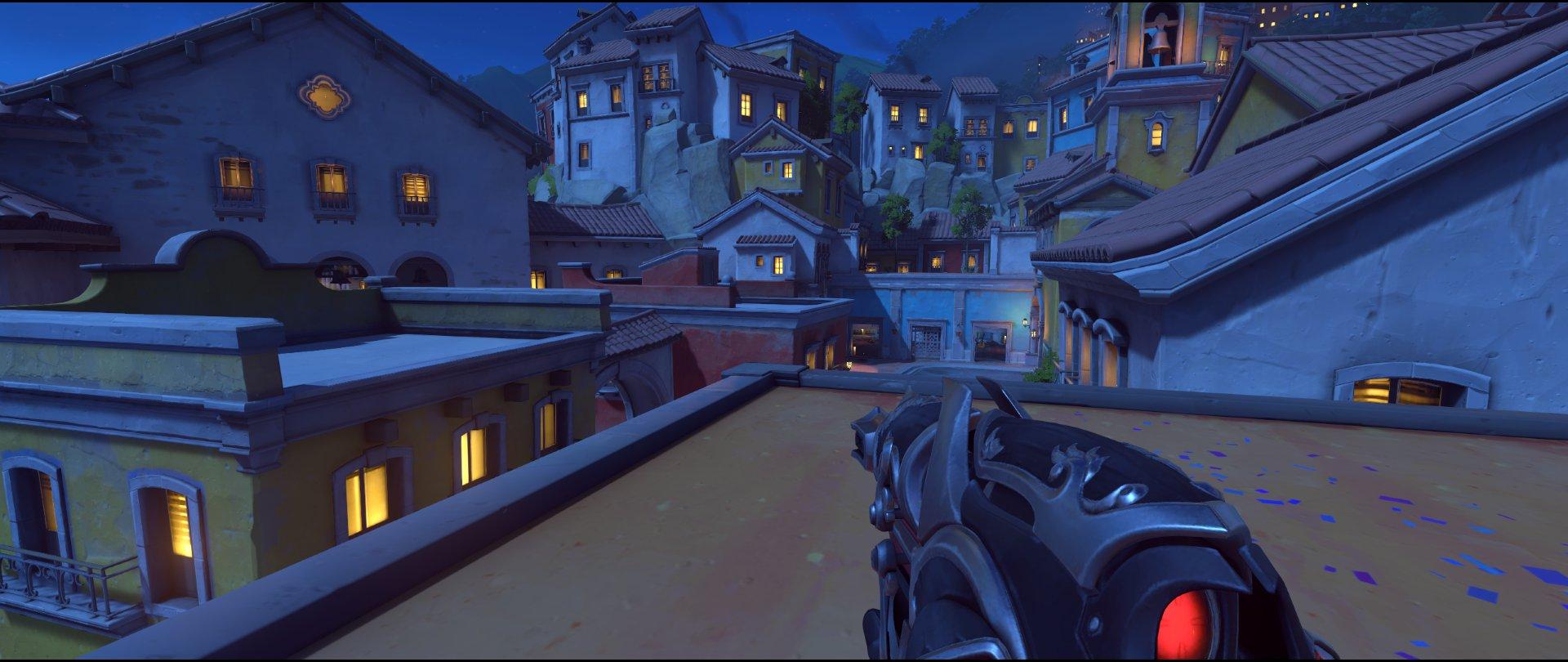Rooftops attack sniping spot Widowmaker Dorado