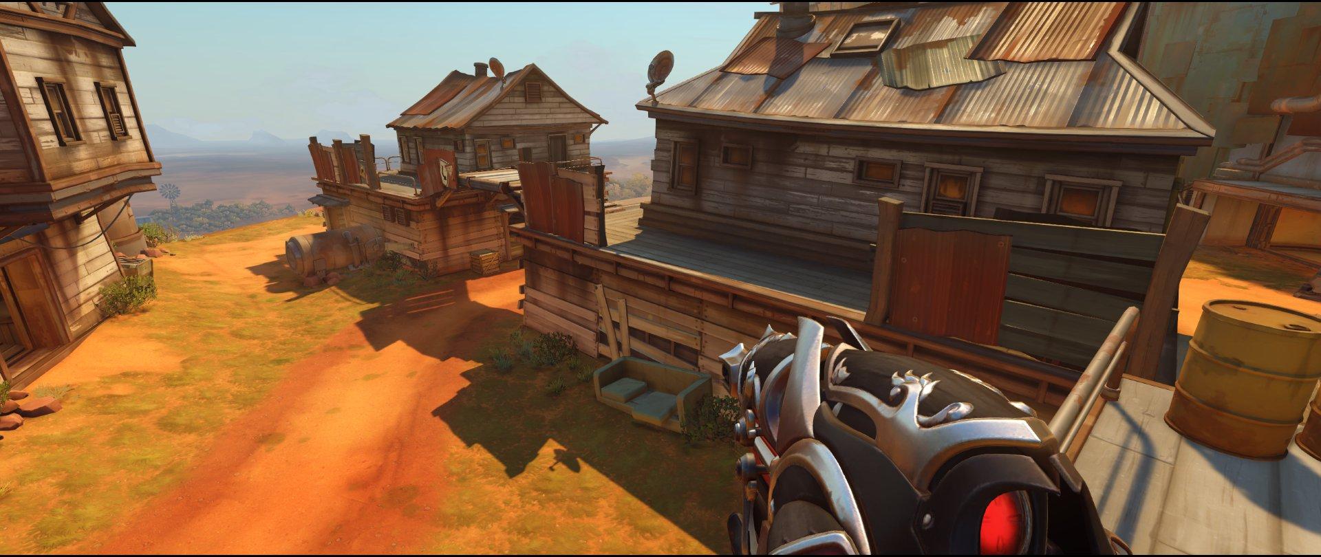 First high ground overview defense Widowmaker sniping spot Junkertown