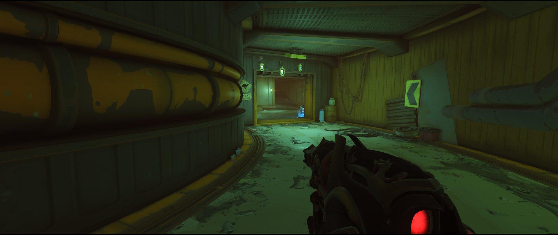 Long tunnel attack Widowmaker sniping spot Junkertown.jpg