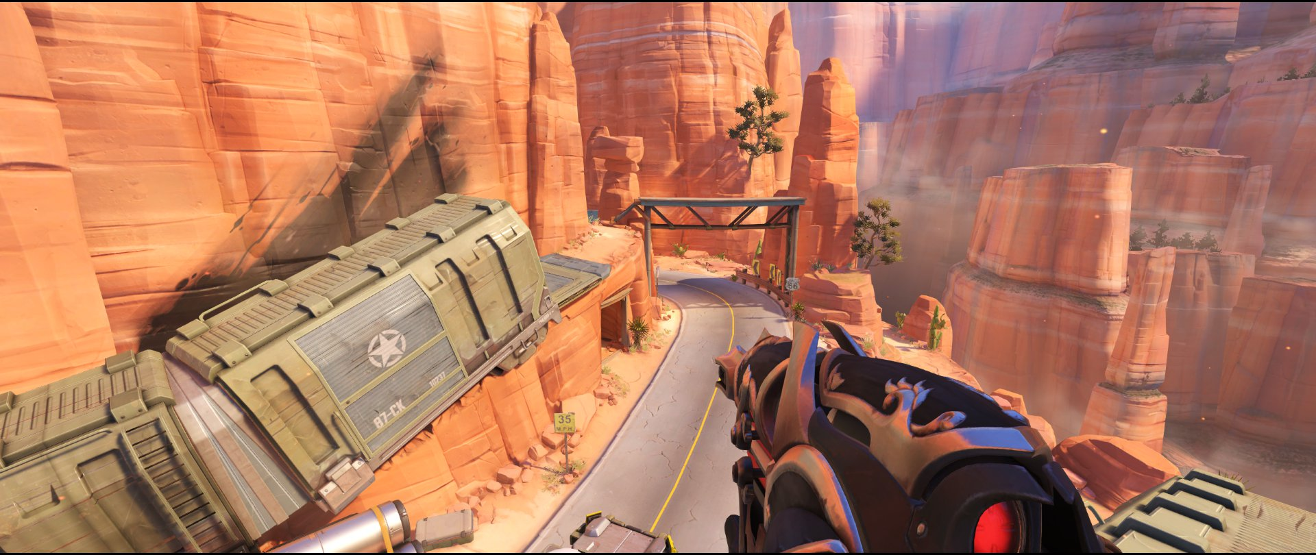 Boxcar attack sniping spot Widowmaker Route 66