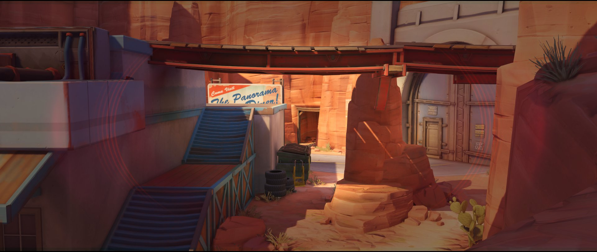 Path view one attack sniping spot Widowmaker Route 66