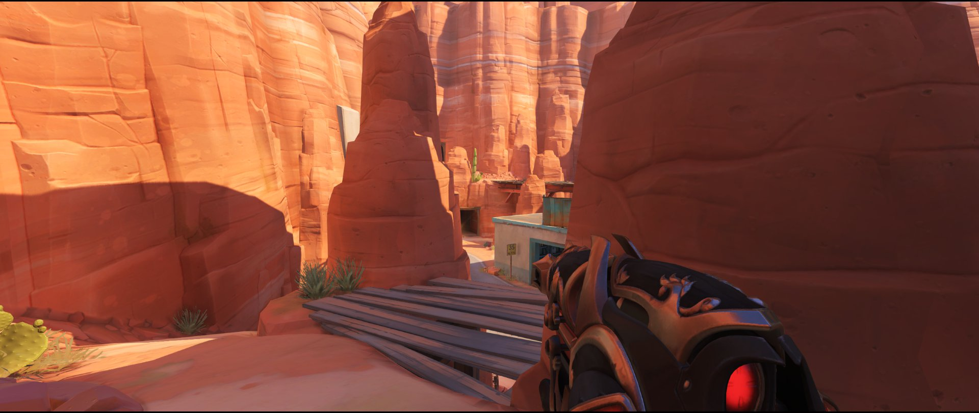 Catwalk view two attack sniping spot Widowmaker Route 66
