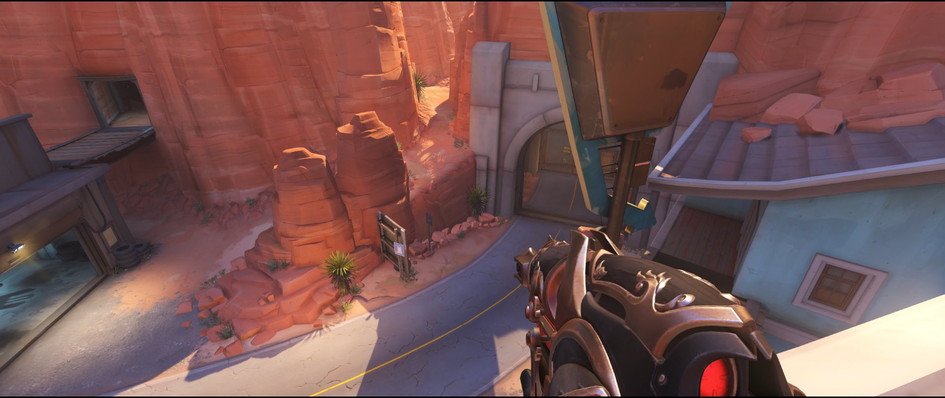 Pub to road defense sniping spot Widowmaker Route 66.jpg