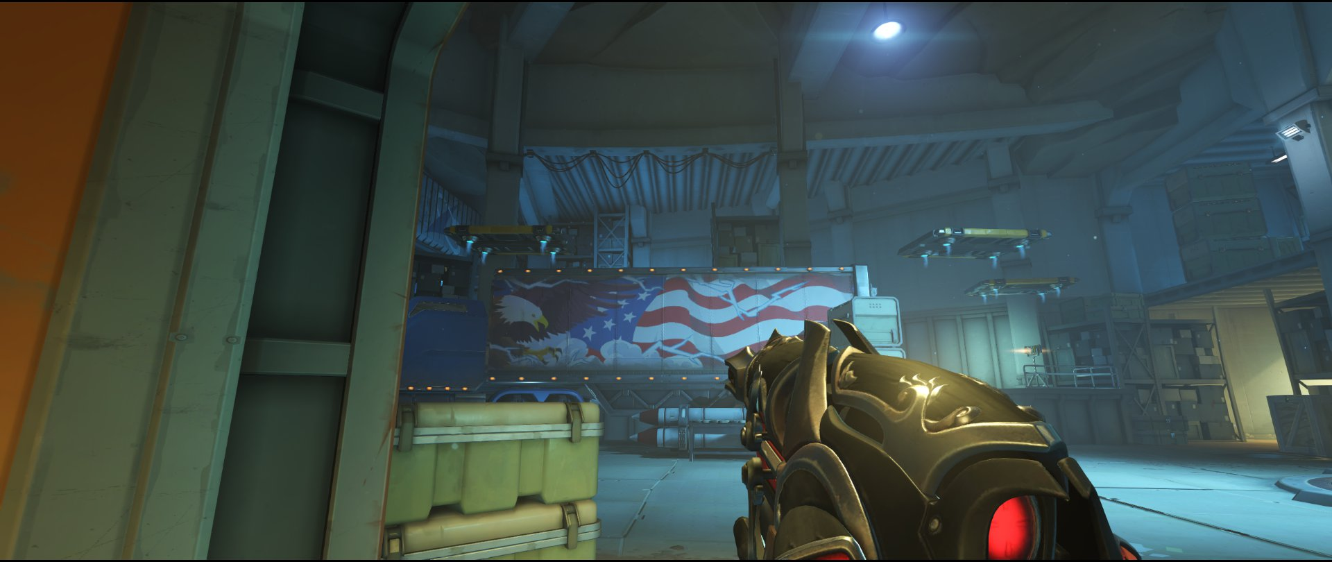 Access ground level view to truck attack sniping spot Widowmaker Route 66.jpg