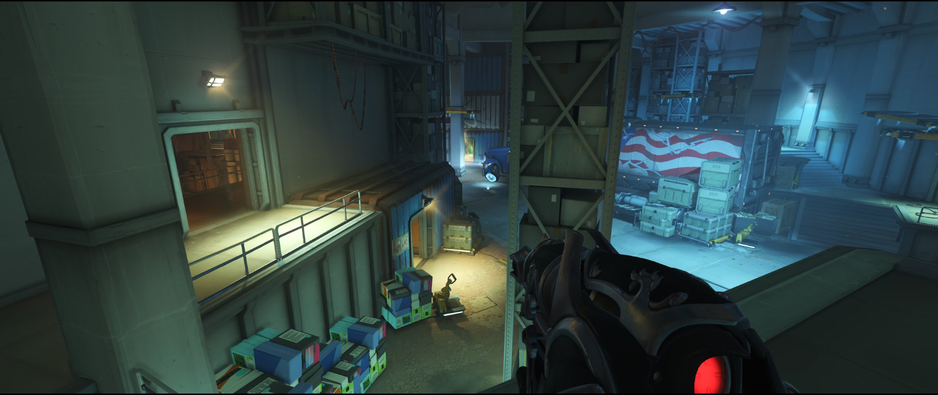 Spawn area high ground one defense sniping spot Widowmaker Route 66.jpg