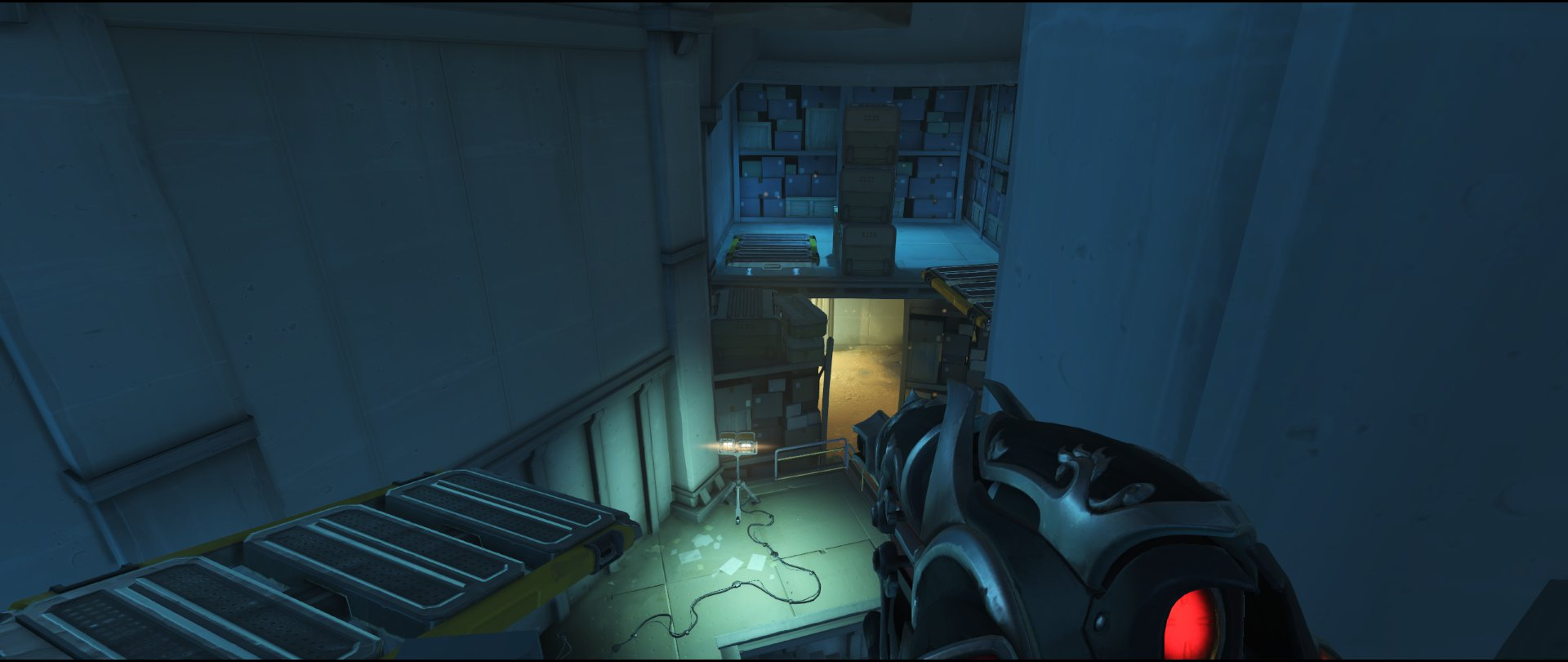 High ground on Truck view to enemy spawn defense sniping spot Widowmaker Route 66.jpg