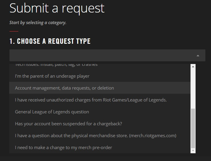 Riot request ticket the for money spent on the account
