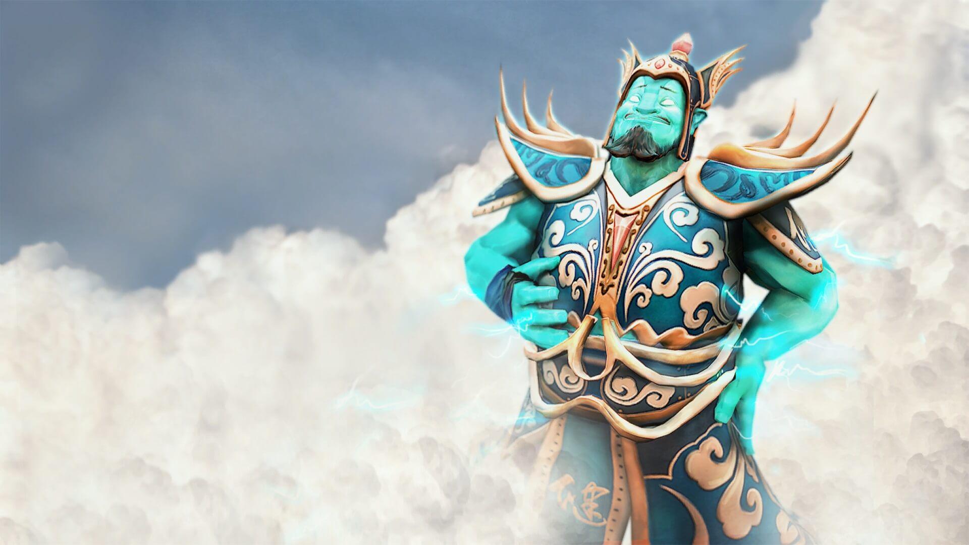 Heavenly General loading screen for Storm Spirit - Valve