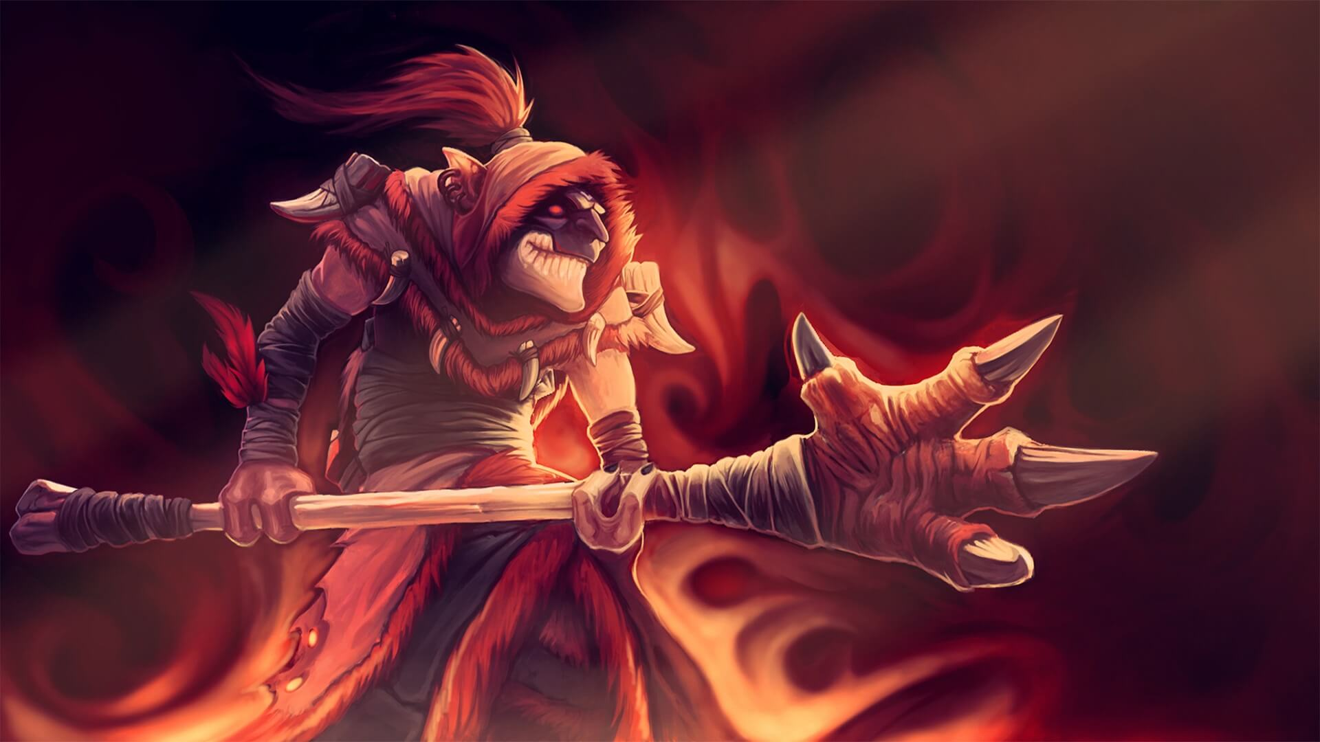 Dazzle has only a 3.1% pick rate in the mid lane at the Divine rank, but he enjoys a 54.3% win rate. Image: Darkclaw Emissary loading screen for Dazzle - Valve