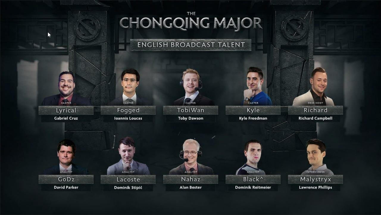 Talent List - The Chongqing Major 2019 - StarLadder