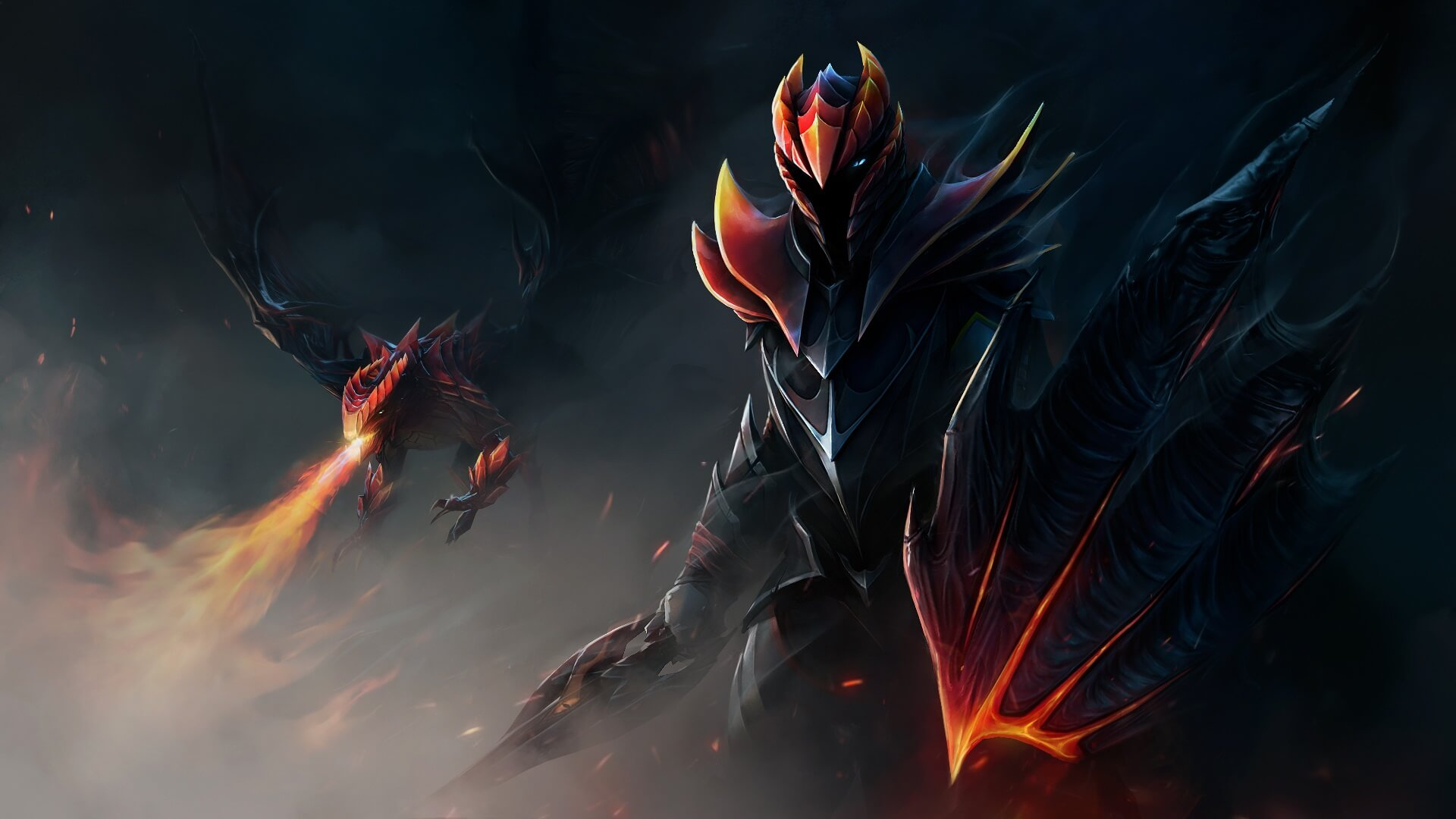 Knight of the Burning Scale loading screen for Dragon Knight - Valve