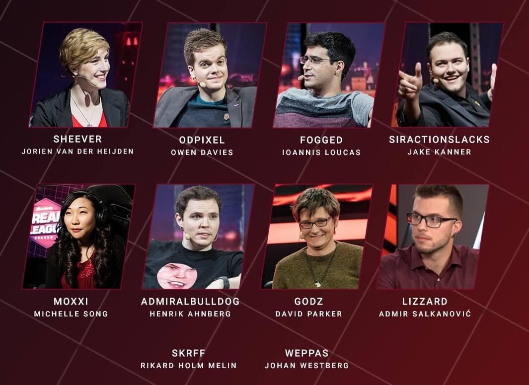 Talent List - DreamLeague Season 11: The Stockholm Major 2019 - DreamHack