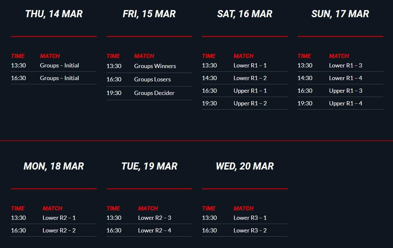 Schedule broadcast days - DreamLeague Season 11 The Stockholm Major 2019 - DreamHack