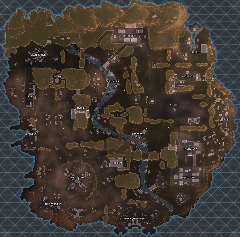 Карта Кингз-Каньона - apexmap.io