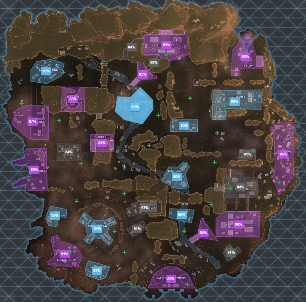 Kings Canyon loot tier map - apexmap.io