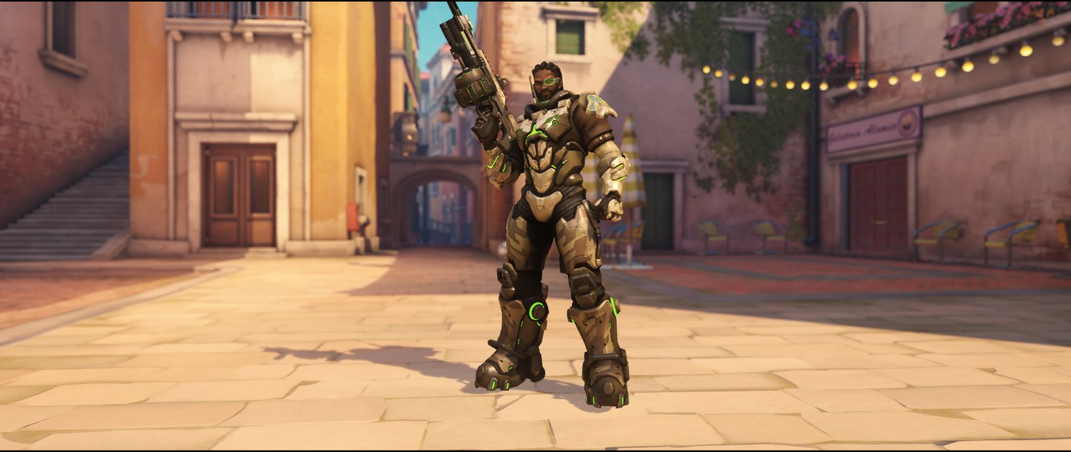 Baptiste's hero and gun skins - All events included