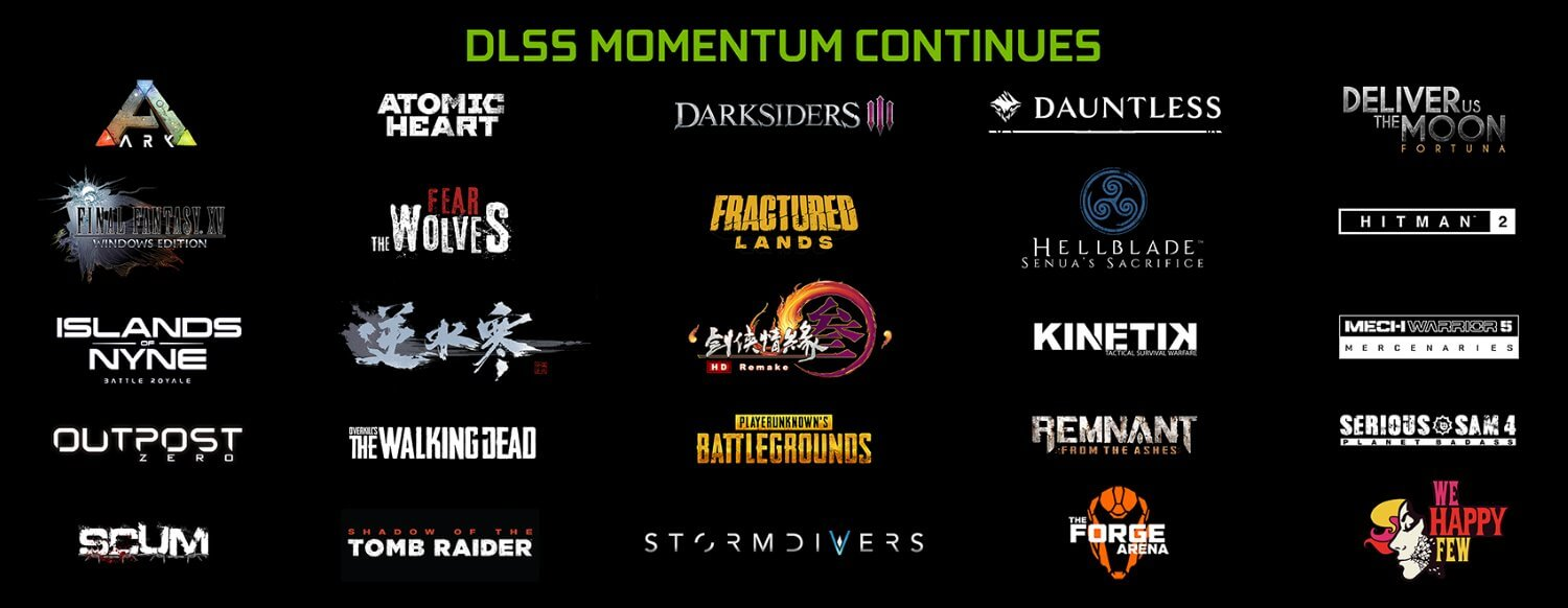 The total number of upcoming DLSS games is 25 - Nvidia