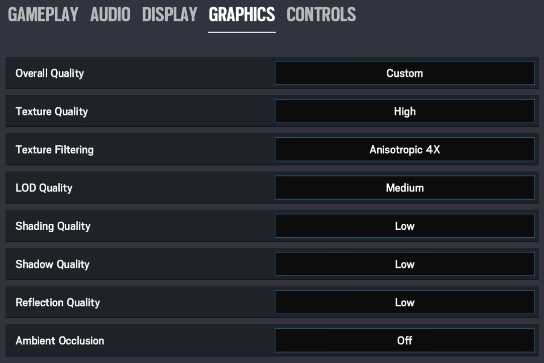 Rainbow Six Siege graphics options best fps 1