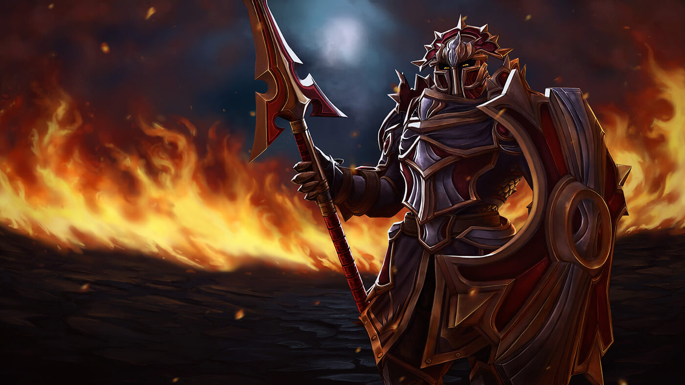 Pact of the Wurmblood loading screen for Dragon Knight - Valve