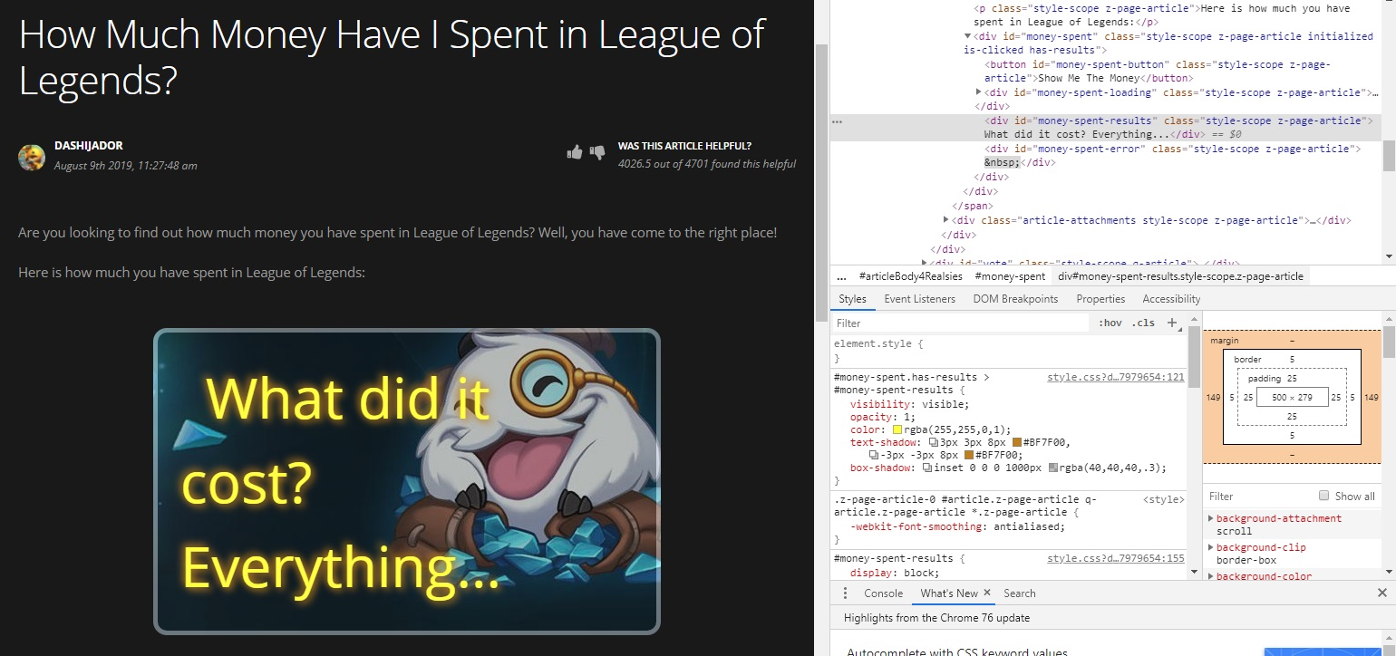 League of Legends real cost