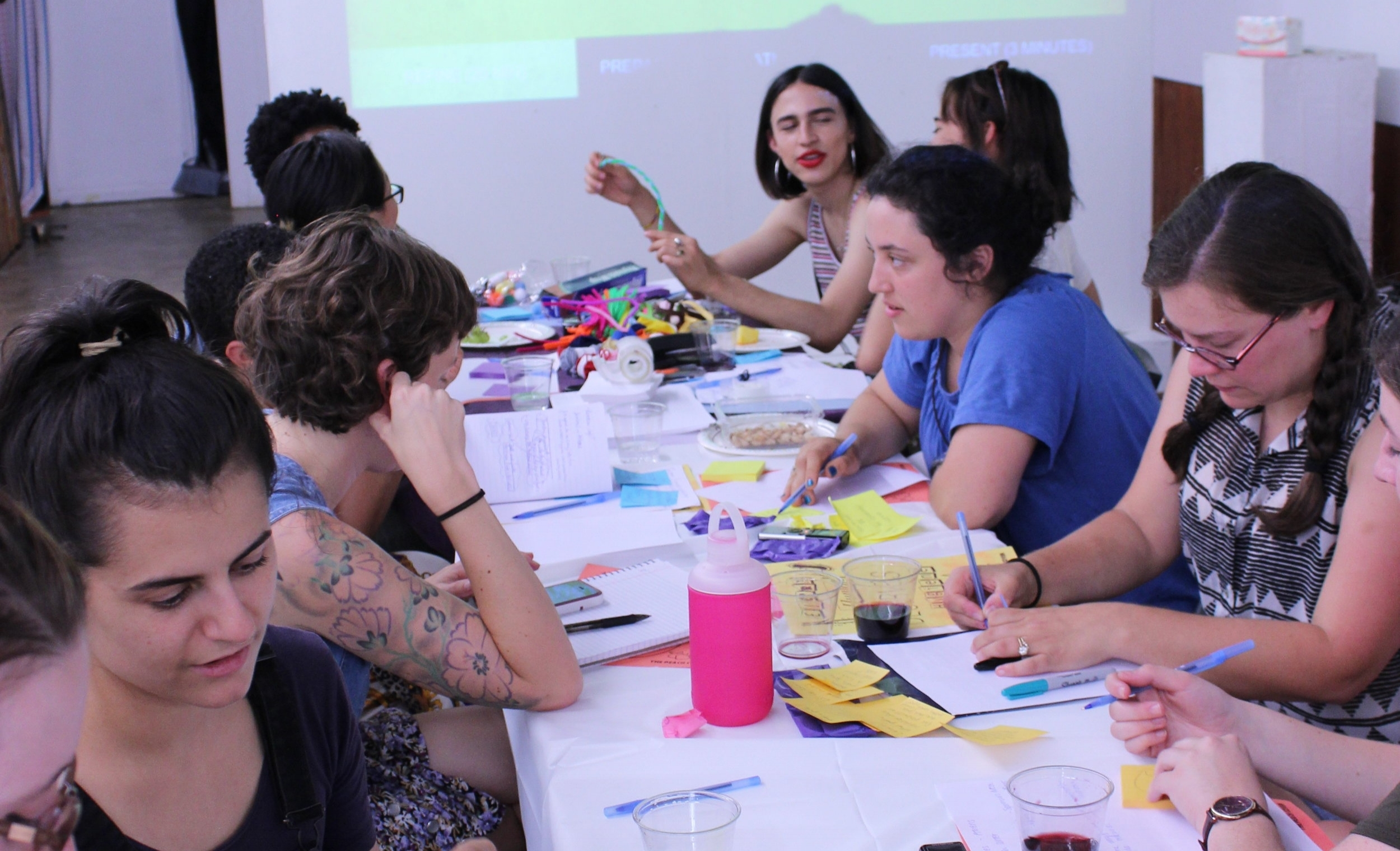 A design workshop gathering members of grassroots organizations and health workers together to imagine new policies, design, and systems meant to improve menstrual resource accessibility.