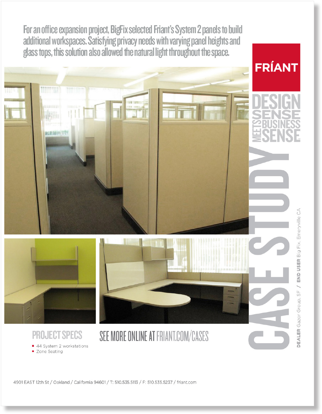 Case study for Friant