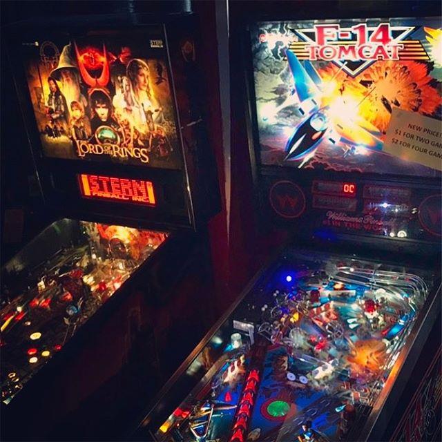 Sweet machines. #lotr #lordoftherings #pinball #soho #yaletown #yvr #vancouver
