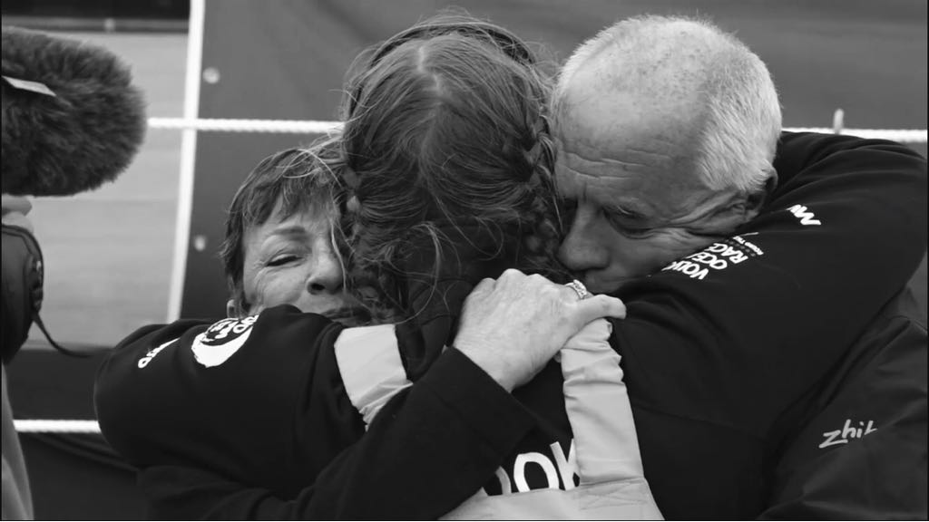 Bianca Cook reunited with family Volvo Ocean Race