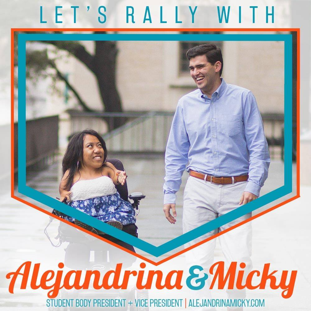 Alejandrina Guzman and Micky Wolf, 2017-2018 Executive Alliance
