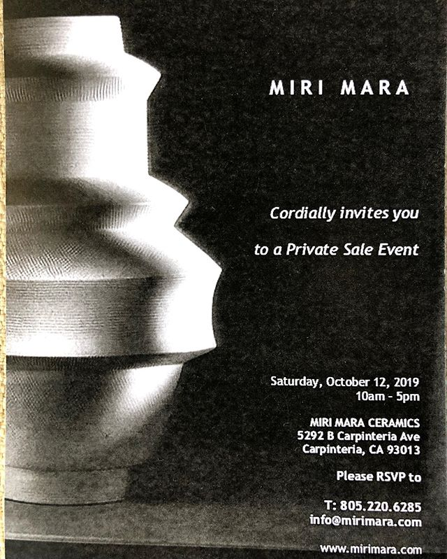 Miri Mara Ceramics invites you to join us! #Mirimaraceramics #Interiordesign #Ceramicmasterpieces #sculpturalandfunctional