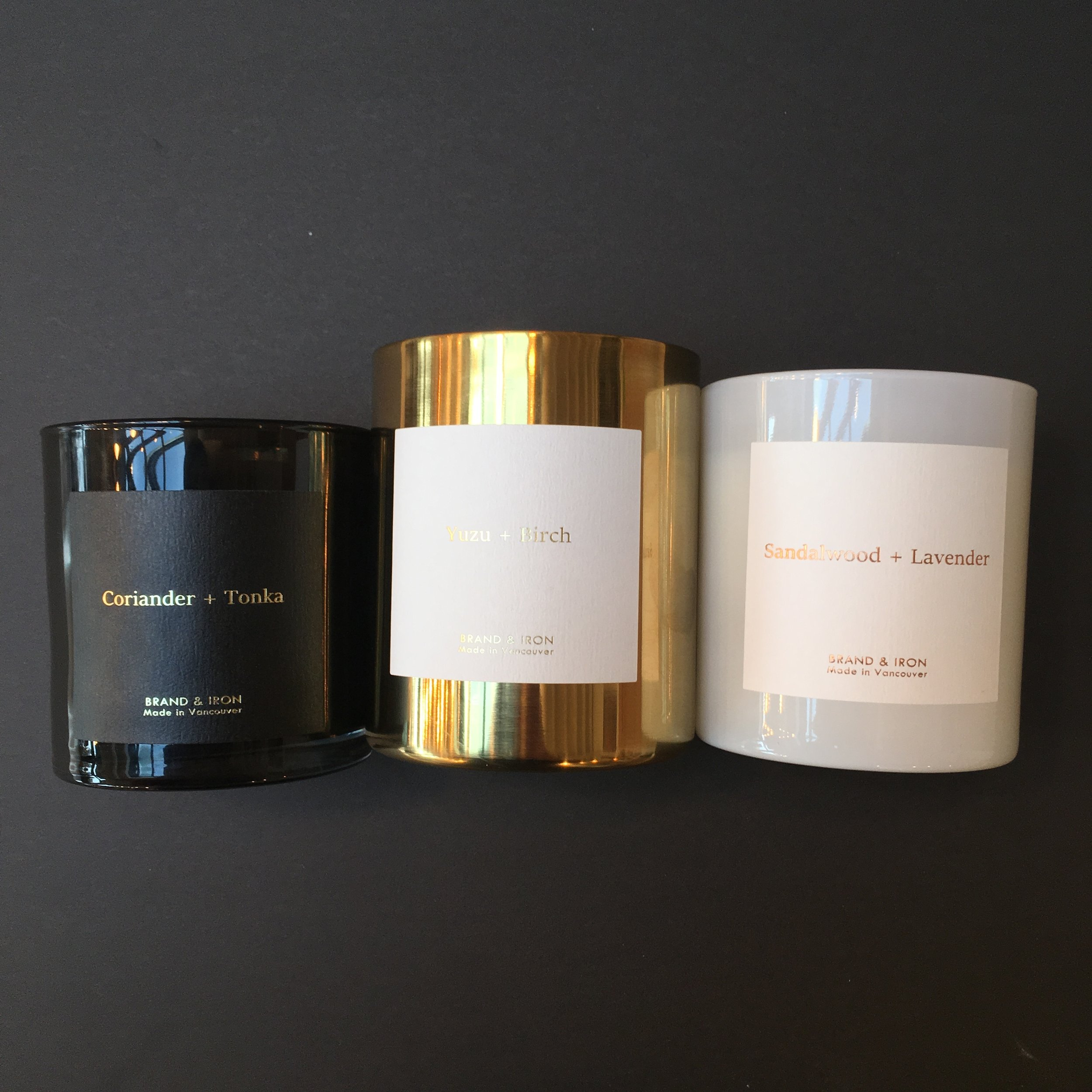 Brand & Iron candles have been gracing our shelves for a while but we just got a sweet new re-stock of their incredible candles.  Check out the ultra special edition Yuzu + Birch candle featuring a stunning and reusable brass vessel.