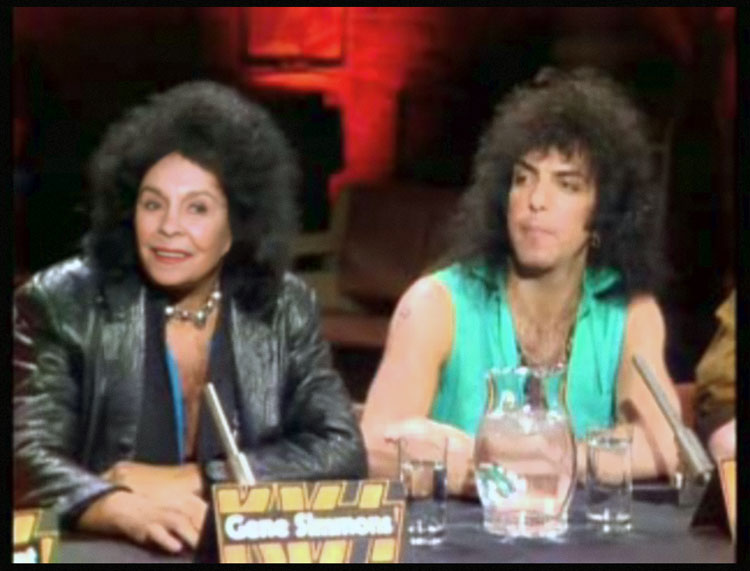 Jean Simmons and Paul Stanley, unmasked on MTV