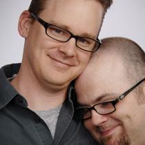 Gary Hoffman with bosom buddy Todd Wilson