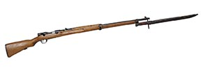 This 6.5 mm Type 38 Arisaka rifle was issued to troops of the Imperial Japanese armed forces prior to and during World War II.