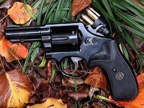 Smith & Wesson Model 13 .357 magnum revolver. FBI gun? Who knows, but it could have some stories!