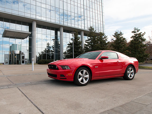 2013 Mustang GT in Race Red