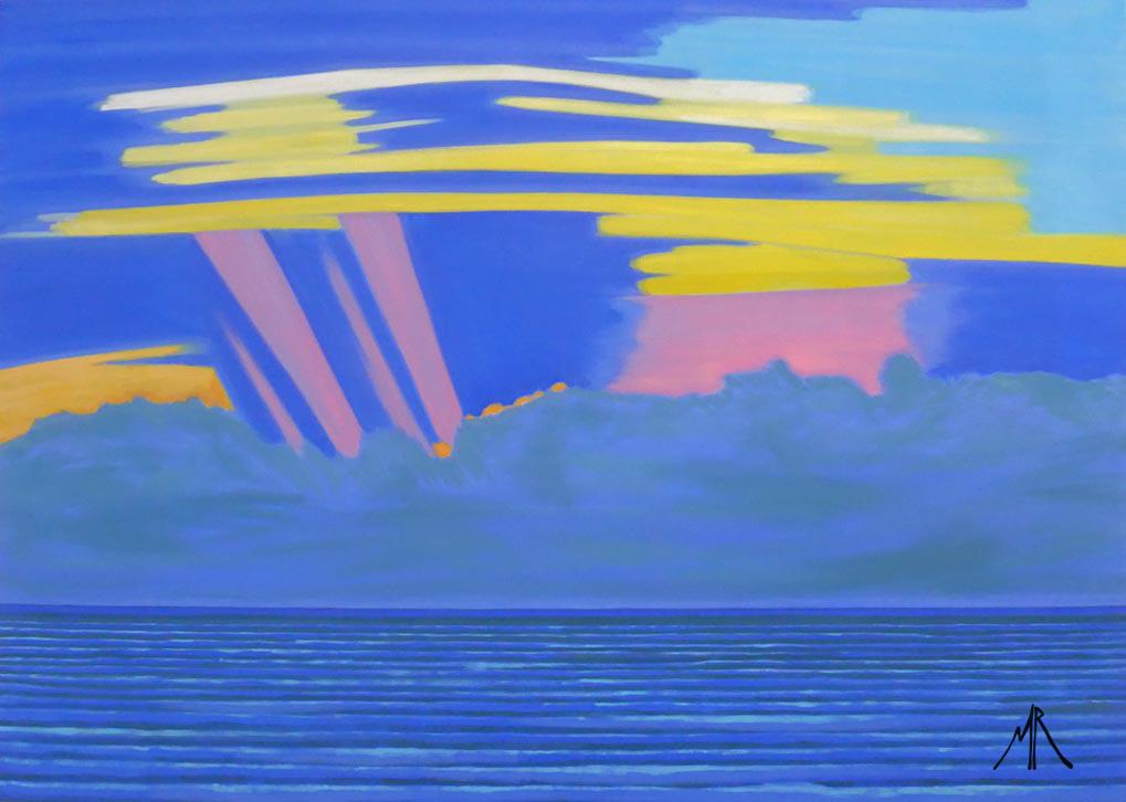 From  Spurn Point Lighthouse Sun Shafts At Dawn.jpg