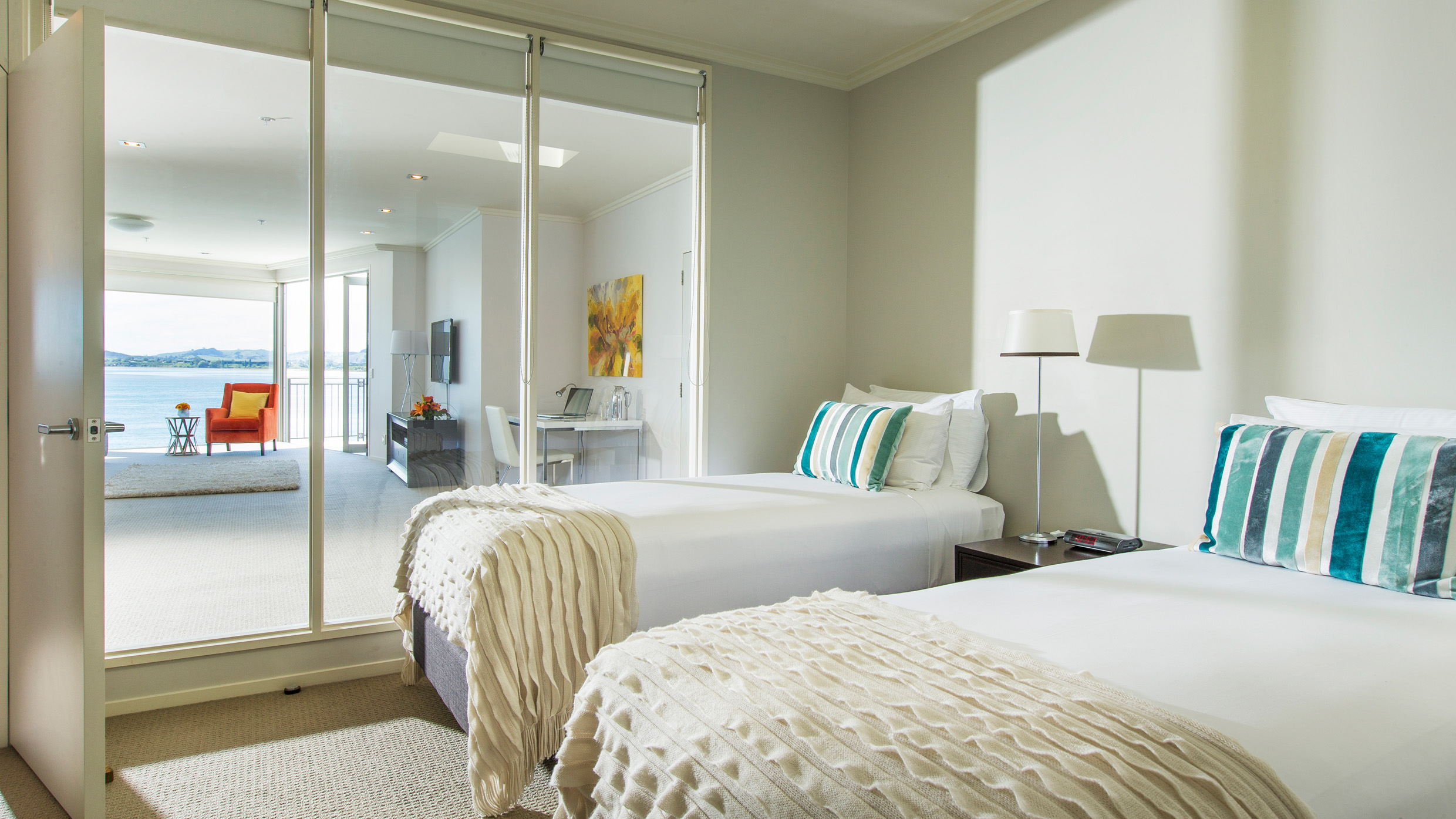 Trinity Wharf Tauranga Accommodation_Harbour View Three Bedroom Apartment_second bedroom024.jpg