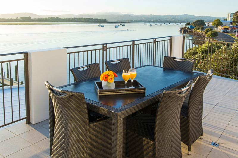 Trinity Wharf Tauranga Accommodation_Harbour View Three Bedroom Apartment_third bedroom_deck.jpg