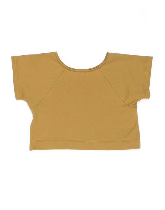 This little tee is made in a pleasantly chunky french terry. - Ilana Kohn